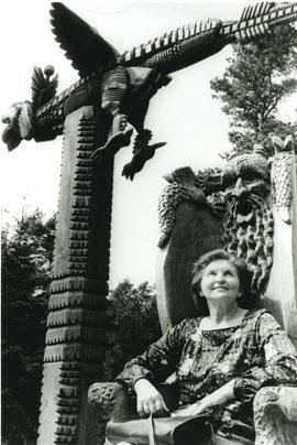 Marija Gimbutas at Raganu Kalnas in Juodkrantė, Lithuania